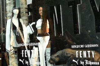 Rihanna in vetrina per il lancio della collezione Fenty Puma