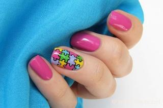 Le unghie della settimana: puzzle manicure