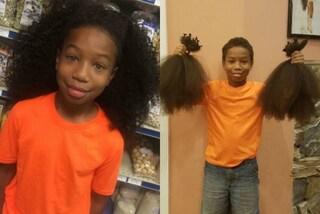 Il dolce gesto del bimbo di 10 anni: fa crescere i capelli per donarli ai malati di cancro