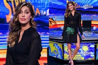 """Trasparenze e minigonna con spacchi: Belén rivela il sexy look per """"Striscia la Notizia"""""""