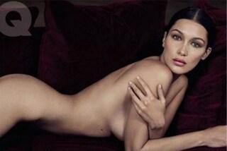 Nuda in copertina: Bella Hadid posa senza veli