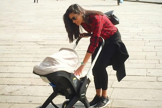 Federica Nargi in leggings e sneakers: il look casual da neomamma