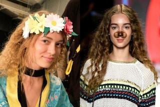 Cuccioli e corone di fiori per Desigual: i filtri Snapchat prendono vita in passerella