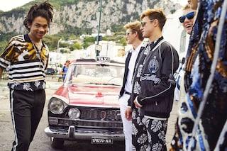 """Dolce&Gabbana a Capri con i """"figli di"""": Presley Gerber e Rafferty Law nella nuova campagna"""