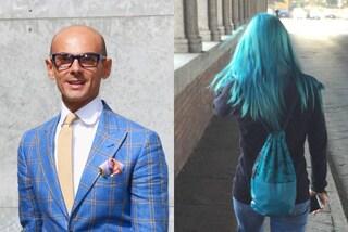 """""""Non ha classe"""": il web contro Enzo Miccio dopo la critica alla ragazza dai capelli blu"""