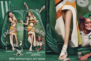 Gigi Hadid e Kendall Jenner senza ginocchia: la copertina viene ritoccata ma c'è un errore