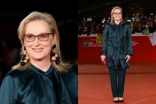 Il diavolo è tornato ma non veste Prada: Meryl Streep elegantissima a Roma