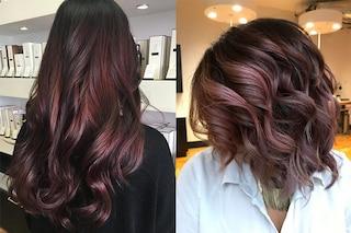 Chocolate mauve, il colore più trendy per i capelli dell'inverno
