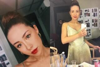 Rossetto rosso e abito oro: il look glamour di Aurora Ramazzotti