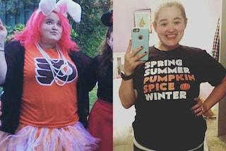 L'emozione della ragazza che perde 45 chili: il sovrappeso la stava distruggendo