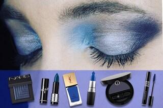Il colore per il make up dell'autunno è il blu: smalti, rossetti e ombretti da non perdere