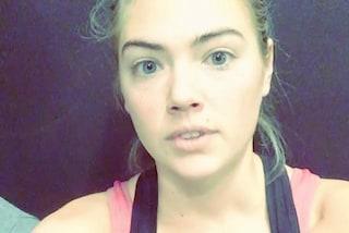 Kate Upton senza trucco: si mostra al naturale dopo l'allenamento in palestra