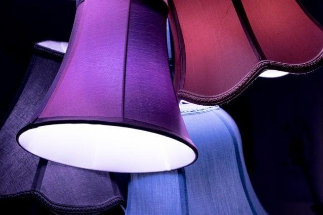 Lampadario stoffa fai da te onli paralume per lampada lampadario