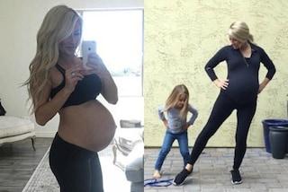 """""""Mi alleno anche in ospedale"""": continua a fare fitness al nono mese di gravidanza"""