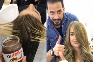 Il nuovo metodo per scurire i capelli? Questo parrucchiere lo fa con la Nutella