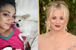 Kaley Cuoco senza trucco su Instagram: l'attrice prima e dopo il make-up
