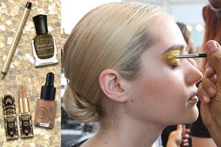 Trucco oro: il make up dorato per Natale 2016