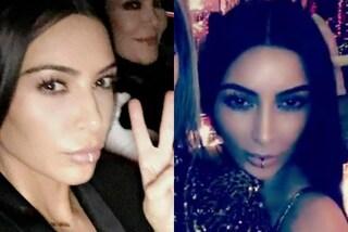 """Kim Kardashian in versione """"ragazza ribelle"""": la star sfoggia un piercing al labbro"""