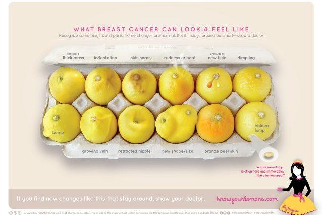 Foto della campagna lanciata da World Wide Breast Cancer