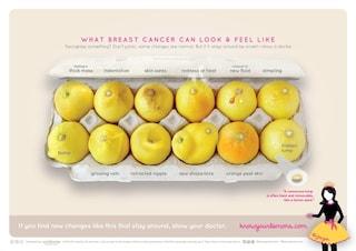 Cancro al seno: la campagna per capire i sintomi attraverso i limoni