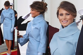 Il look di Melania Trump all'Inauguration Day: la First Lady in celeste Ralph Lauren