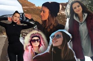Belén con il cappello, look coordinato per la Satta: lo stile delle star in montagna