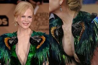 Nicole Kidman e la scollatura hot: oltre al seno mostra l'eccessiva magrezza