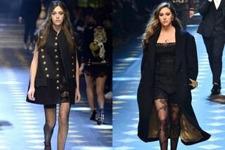 I Millenials da Dolce&Gabbana: le figlie di Stallone modelle per un giorno