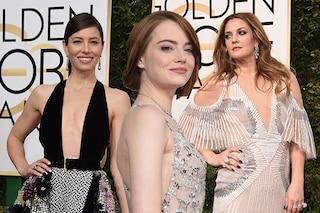 """Addio seni rifatti: ai Golden Globes 2017 va in scena la rivincita delle donne """"piatte"""""""