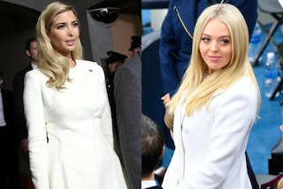 "Ivanka e Tiffany ""vanno in bianco"": look uguali per le sorelle Trump all'Inauguration Day"