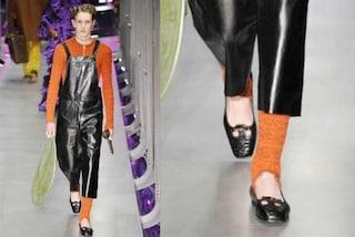 Le ballerine da uomo sfilano in passerella alla Milano Fashion Week