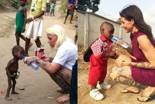 Ricrea lo scatto del momento in cui ha salvato il bambino: oggi Hope è felice
