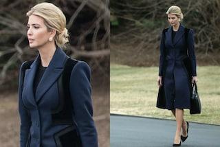 """Ivanka Trump, tacchi alti e cappotto scuro per la prima uscita da """"First Lady"""""""