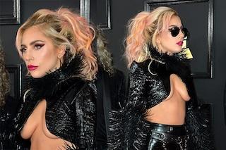 Grammy 2017, Gaga mostra il seno: l'underboob della Lady del pop sul red carpet