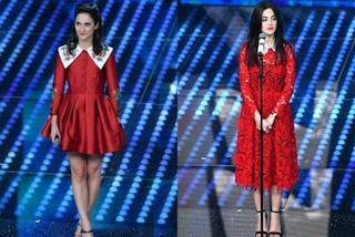 """Vestiti """"uguali"""" a Sanremo 2017: Comello e Farinacci in rosso e con il colletto"""