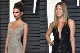 Piume per la Ratajkowski, scollatura hot per la Aniston: i look agli after party degli Oscar