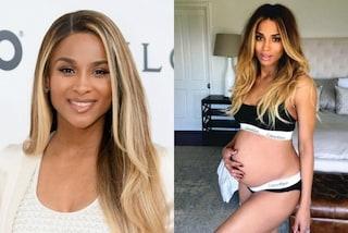 E' incinta all'ottavo mese ma ha un fisico perfetto: Ciara in intimo mostra il pancione