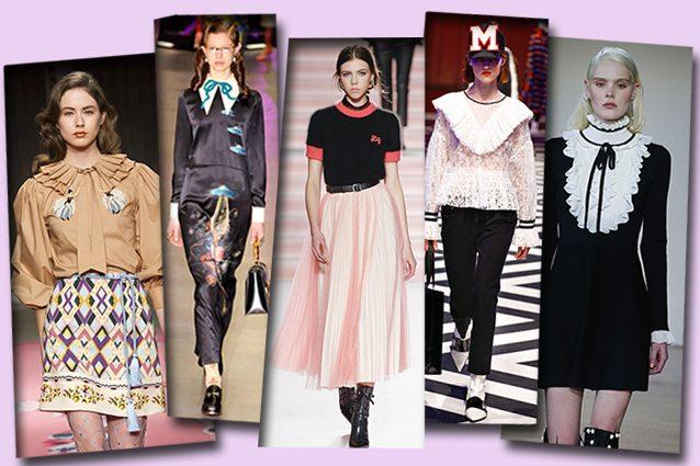 da sinistra Vivetta, Gucci, Philosophy di Lorenzo Serafini, MSGM, Blugirl