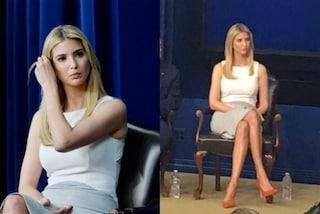 Ivanka Trump punta sui tacchi alti: décolleté rosso fuoco per l'incontro alla Casa Bianca
