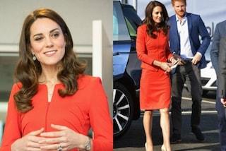 Rosso passione e tacchi a spillo, la svolta di stile di Kate Middleton