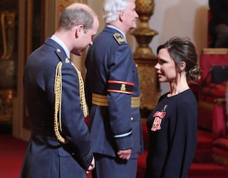 Il principe William e Victoria Beckham, l'ex Spice premiata per il successo nella moda