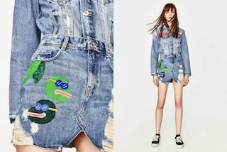 Zara ritira dai negozi la minigonna con la rana: il disegno ricorda un simbolo razzista