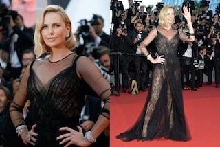 Charlize Theron punta sul nudo: abito vedo non vedo per la più bella di Cannes