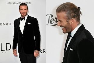 David Beckham in versione James Bond ma con il codino