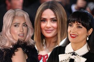 Dal rosa al biondo: Salma Hayek a Cannes cambia colore di capelli ogni giorno