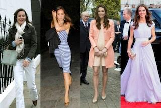 La trasformazione di Kate Middleton: ieri minigonne e jeans, oggi cappotti pastello