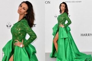 Madalina Ghenea in verde a Cannes: la modella rivela il corpo perfetto a 2 mesi dal parto