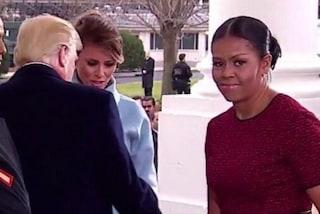 Michelle Obama spiega il motivo delle occhiatacce il giorno dell'Inauguration Day