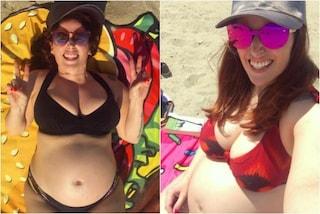 Clio Make-up con il pancione al mare: manca solo un mese al parto