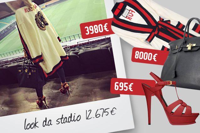 Vestaglia Gucci, borsa Hermes, sandali Yves Saint Laurent